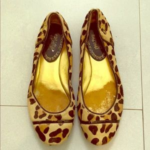 Leopard pony hair flats by Coach
